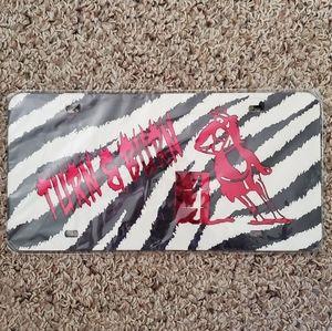 Turn N Burn License Plate